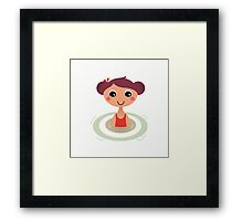 Beautiful young little summer swimming girl Framed Print