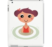 Beautiful young little summer swimming girl iPad Case/Skin
