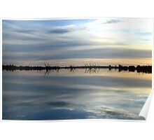 Reflections at Sunset - Lake Cullulleraine Poster