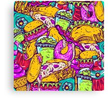 Fast Food Frenzy! Canvas Print