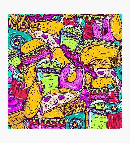 Fast Food Frenzy! Photographic Print