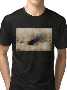 Eagle fade - horizontal Tri-blend T-Shirt