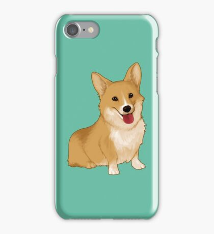 Cute smiling corgi iPhone Case/Skin