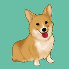 Cute smiling corgi by LinaFleer