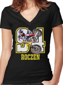 roczen 94 Women's Fitted V-Neck T-Shirt