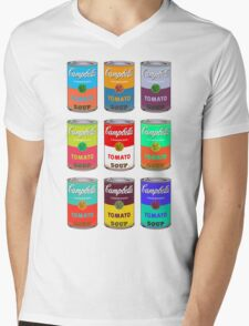 Campbell's Soup Andy Warhol Mens V-Neck T-Shirt