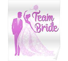 Team Bride Orchid Purple Wedding Color Bachelorette Party Bridal Groom Poster