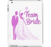 Team Bride Orchid Purple Wedding Color Bachelorette Party Bridal Groom iPad Case/Skin