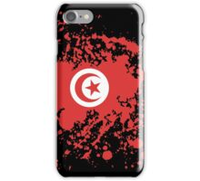 Tunisia Flag Ink Splatter iPhone Case/Skin