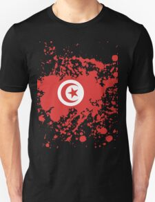 Tunisia Flag Ink Splatter Unisex T-Shirt