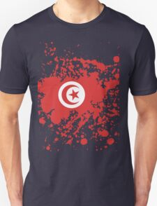 Tunisia Flag Ink Splatter Unisex T-Shirt