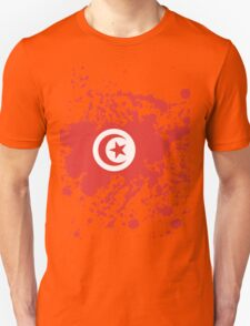 Tunisia Flag Ink Splatter T-Shirt