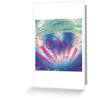 Swirls and Rays, Gradients and Spirals Greeting Card