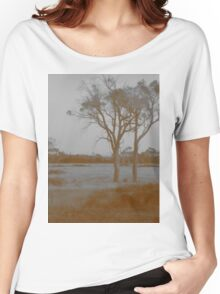 Countryside - Sepia Women's Relaxed Fit T-Shirt