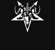 Satanic Goat Head with Pentagram (white) Unisex T-Shirt