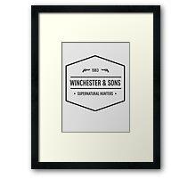 Supernatural - Winchester Framed Print