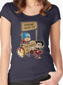 The Cap'n Is In Women's Fitted Scoop T-Shirt
