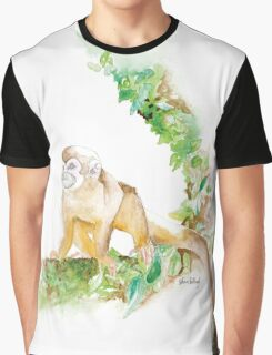 Scatter Monkey Graphic T-Shirt