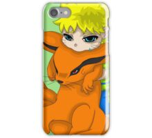 Kid Naruto and Kid Kurama iPhone Case/Skin