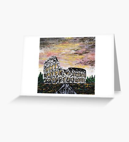 Colosseum - rome Greeting Card