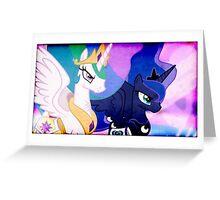 CELESTIA & LUNA TAKE ON DISCORD Greeting Card