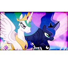 CELESTIA & LUNA TAKE ON DISCORD Photographic Print