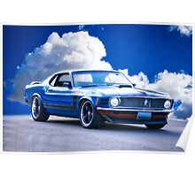 1970 Ford Mustang Fastback Poster