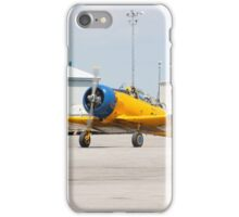 Single engine trainer North American Harvard IV rolling to location for stop. iPhone Case/Skin