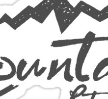 Mountains Retro Brand, Camping, Outdoor Sticker