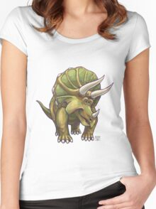 Animal Parade Triceratops Women's Fitted Scoop T-Shirt