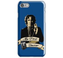 Doctor Who - My first Doctor (Who) eighth 9th Paul McGann iPhone Case/Skin