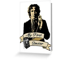 Doctor Who - My first Doctor (Who) eighth 9th Paul McGann Greeting Card