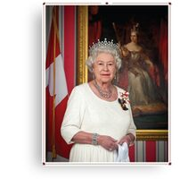 The Queen in Canada Canvas Print
