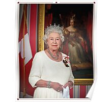 The Queen in Canada Poster