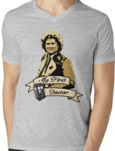 Doctor Who - My first Doctor (Who) sixth 6th Colin Baker Mens V-Neck T-Shirt