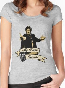 Doctor Who - My first Doctor (Who) Third 3rd Jon Pertwee Women's Fitted Scoop T-Shirt