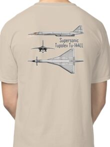 Russian Aircraft, Tupolev Tu-144ll, Charger, Concorde? Russia, USSR Classic T-Shirt