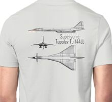 Russian Aircraft, Tupolev Tu-144ll, Charger, Concorde? Russia, USSR Unisex T-Shirt