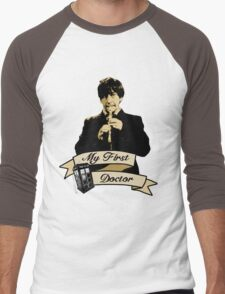 Doctor Who - My first Doctor (Who) Second 2nd Patrick Troughton Men's Baseball ¾ T-Shirt