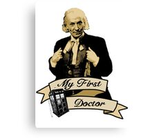 Doctor Who - My first Doctor (Who) First 1st William Hartnell Canvas Print