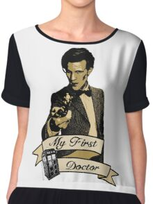 Doctor Who - My first Doctor (Who) Eleventh 11th Matt Smith Chiffon Top