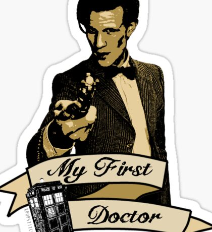 Doctor Who - My first Doctor (Who) Eleventh 11th Matt Smith Sticker