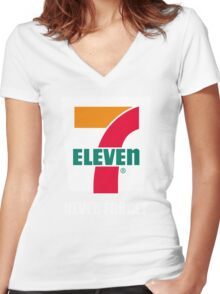 7 eleven Donald Trump Women's Fitted V-Neck T-Shirt