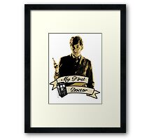 Doctor Who - My first Doctor (Who) Tenth 10th David Tennant Framed Print