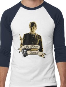 Doctor Who - My first Doctor (Who) Tenth 10th David Tennant Men's Baseball ¾ T-Shirt