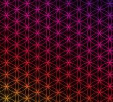 Flower of Life pattern rainbow Sticker
