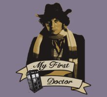 Doctor Who - My first Doctor (Who) Fourth 4th Tom Baker Kids Tee