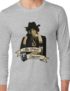 Doctor Who - My first Doctor (Who) Fourth 4th Tom Baker Long Sleeve T-Shirt