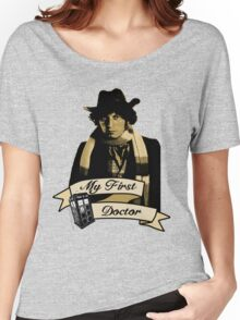 Doctor Who - My first Doctor (Who) Fourth 4th Tom Baker Women's Relaxed Fit T-Shirt