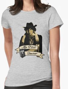 Doctor Who - My first Doctor (Who) Fourth 4th Tom Baker Womens Fitted T-Shirt